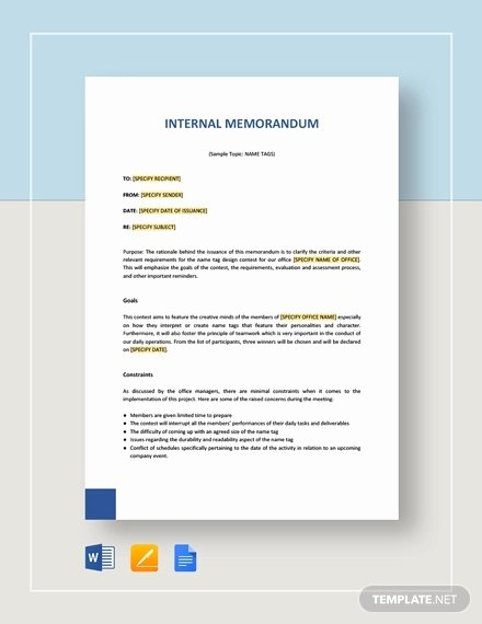 Memo Template Google Docs Elegant Internal Memo Template 23 Word Pdf Google Docs Documents Download