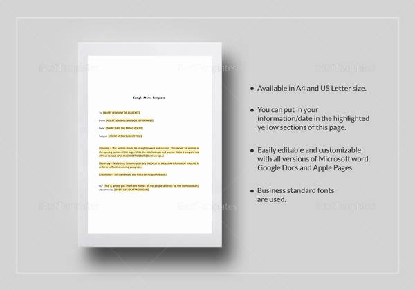 Memo Template Google Docs Lovely Sample Memo format 26 Documents In Pdf Word