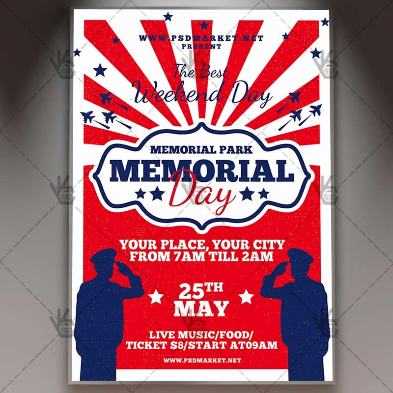 Memorial Day Flyer Template Free Awesome Memorial Day Bbq Flyer Psd Template