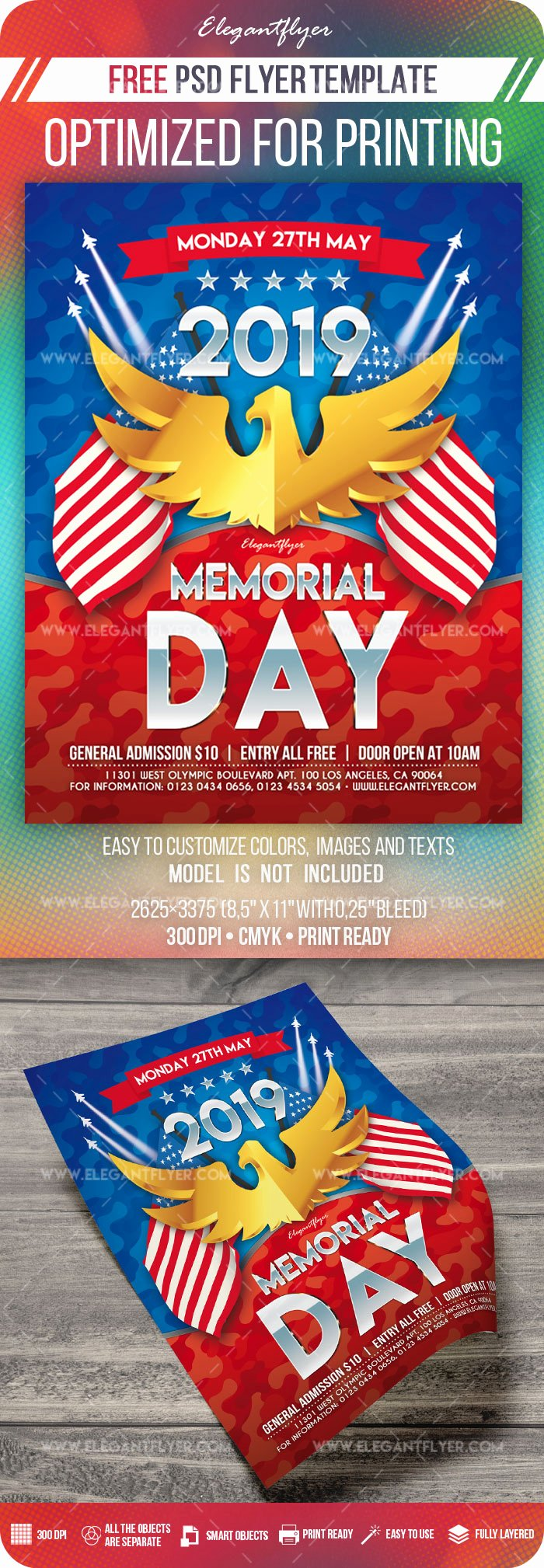 Memorial Day Flyer Template Free Awesome Memorial Day – Free Flyer Psd Template – by Elegantflyer