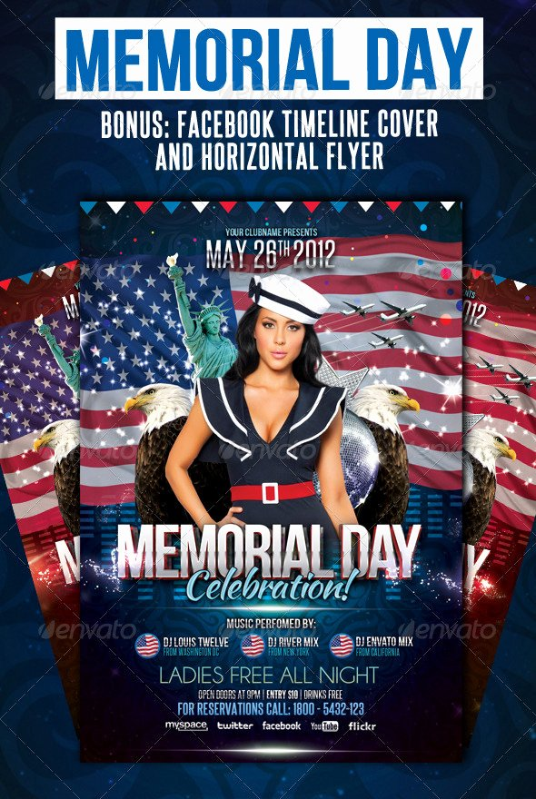 Memorial Day Flyer Template Free Beautiful Memorial Day Flyers Collection