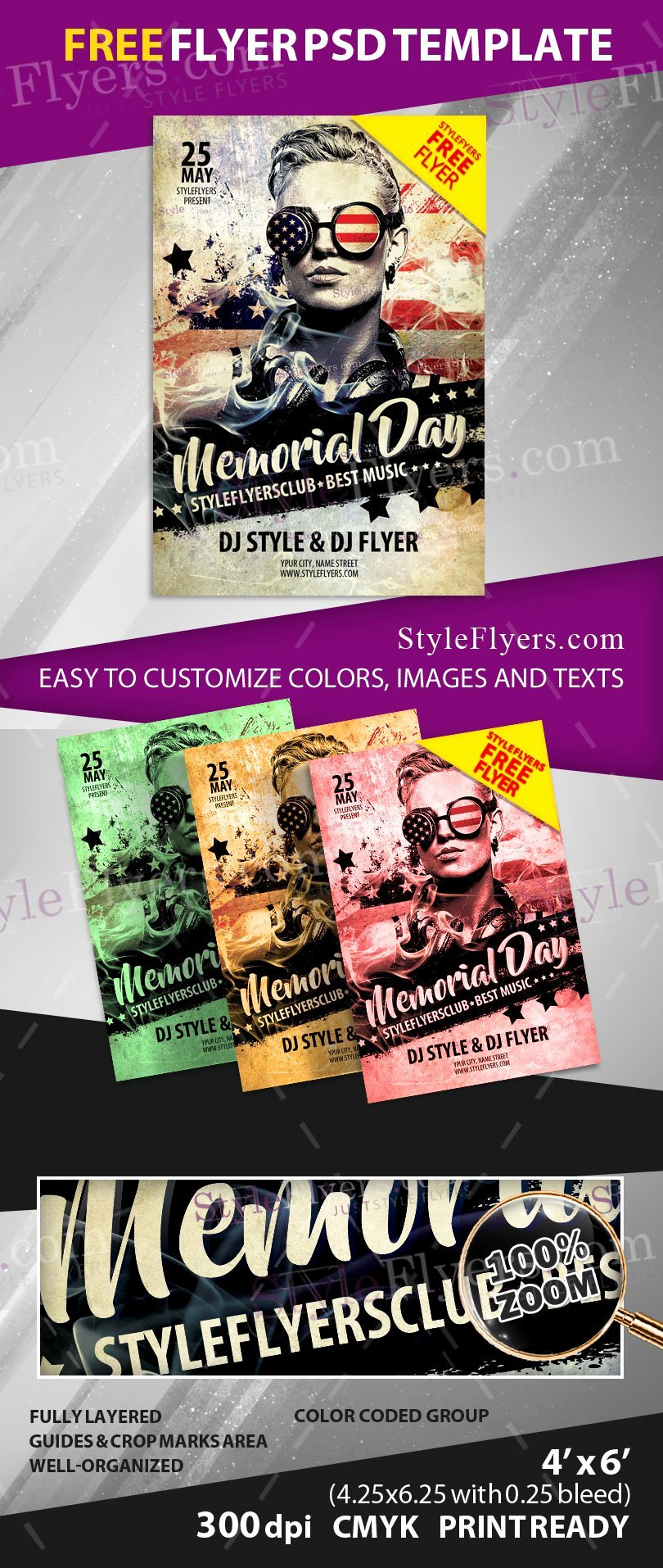 Memorial Day Flyer Template Free Beautiful Memorial Day Free Psd Flyer Template Free Download Styleflyers