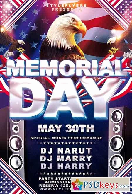 Memorial Day Flyer Template Free Best Of Memorial Day Psd Flyer Template 5 Cover Free Download Shop Vector Stock Image