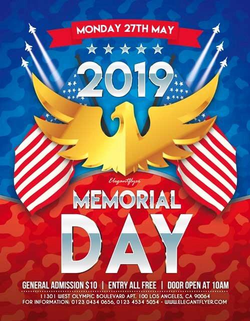 Memorial Day Flyer Template Free Elegant Memorial Day 2019 Free Party Flyer Template Freebie