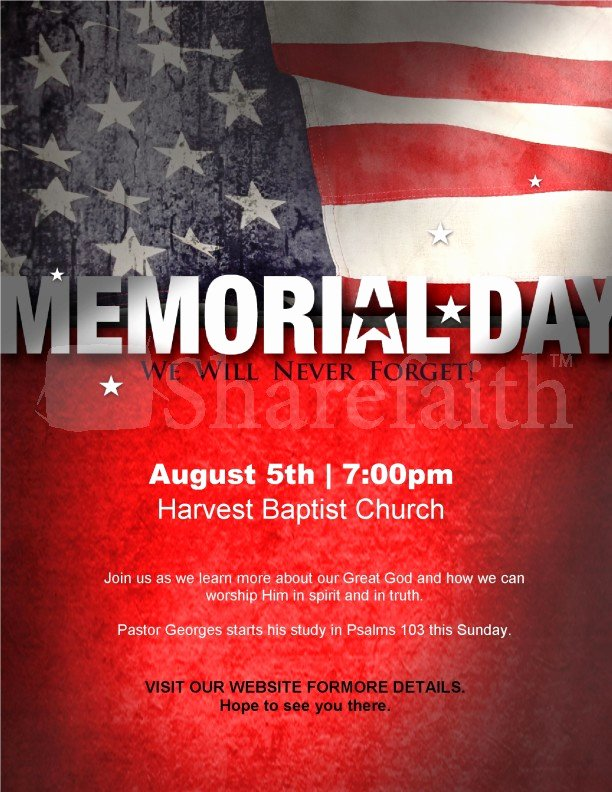 Memorial Day Flyer Template Free Elegant Memorial Day Flyer Design Template
