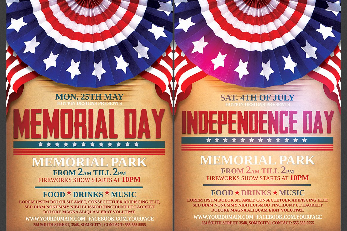 Memorial Day Flyer Template Free Inspirational Independence Memorial Day Flyer Flyer Templates On Creative Market