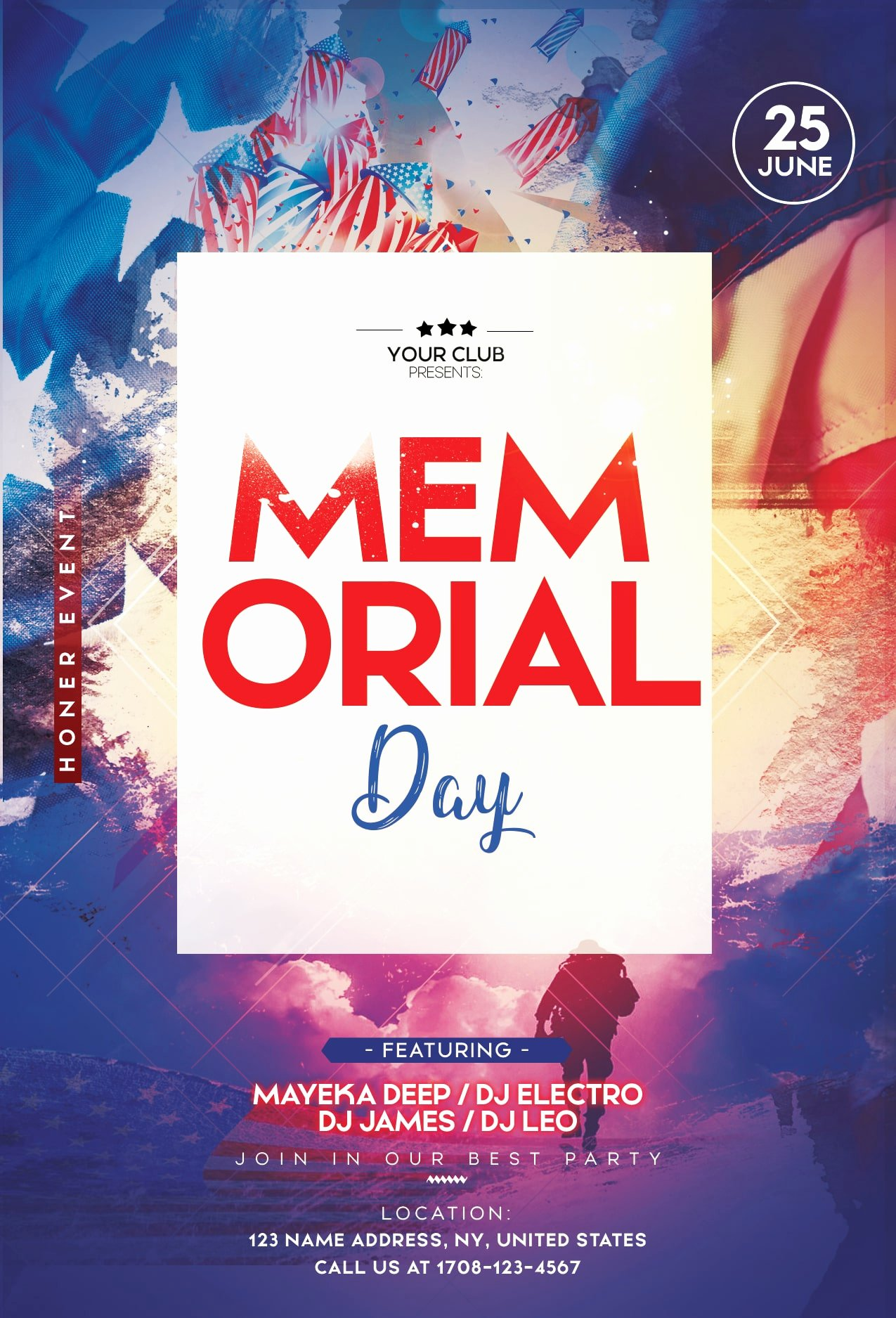 Memorial Day Flyer Template Free Inspirational Memorial Day 2 Free Psd Flyer Template Free Psd Flyer Templates Brochures Mockup & More