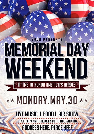 Memorial Day Flyer Template Free Lovely 20 Best Memorial Day Flyer Print Templates 2018