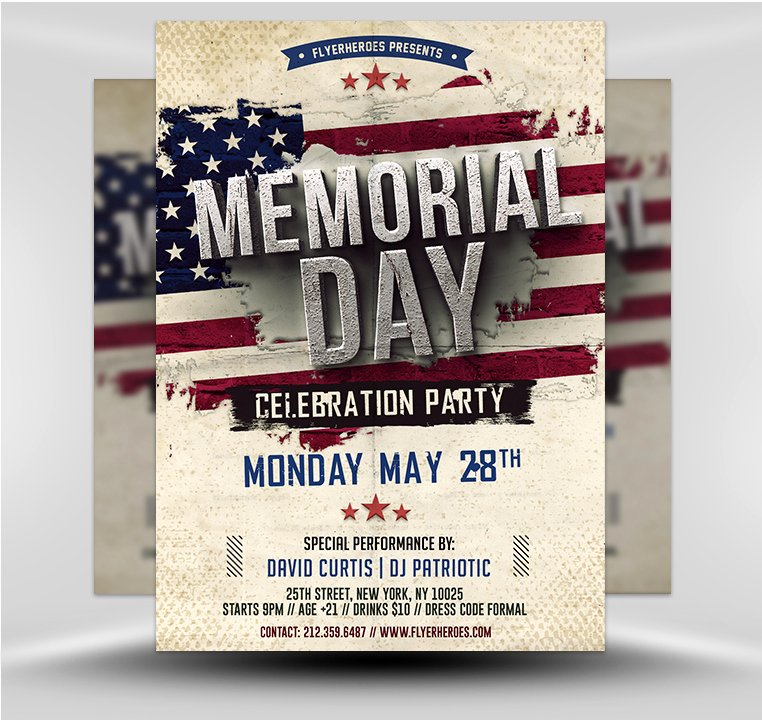 Memorial Day Flyer Template Free Lovely Memorial Day Flyer Template V2 Flyerheroes