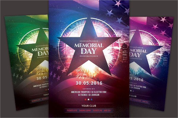 Memorial Day Flyer Template Free Luxury 20 Memorial Day Flyers Psd Vector Eps format Download