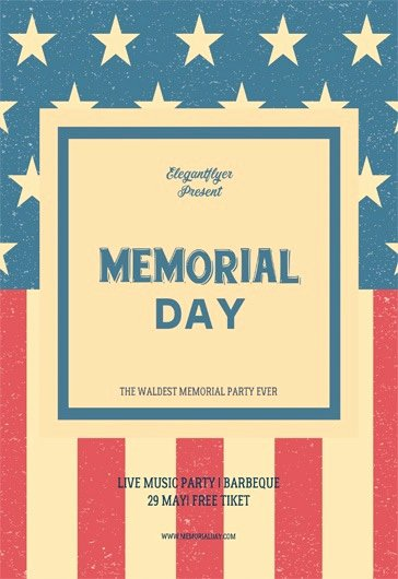 Memorial Day Flyer Template Free Luxury Free Memorial Day Flyer Templates In Psd
