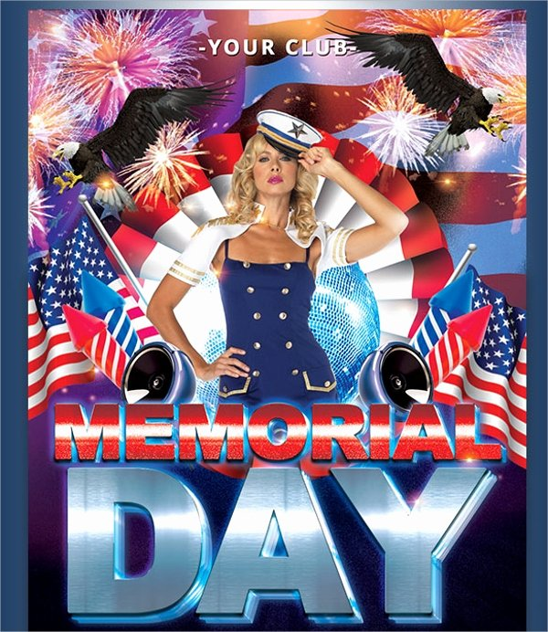 Memorial Day Flyer Template Free New 20 Memorial Day Flyers Psd Vector Eps format Download