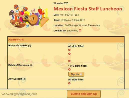 Mexican Potluck Signup Sheet Beautiful Teacher Appreciation Lunch Ideas Mexican Fiesta Easy Peasy Pleasy