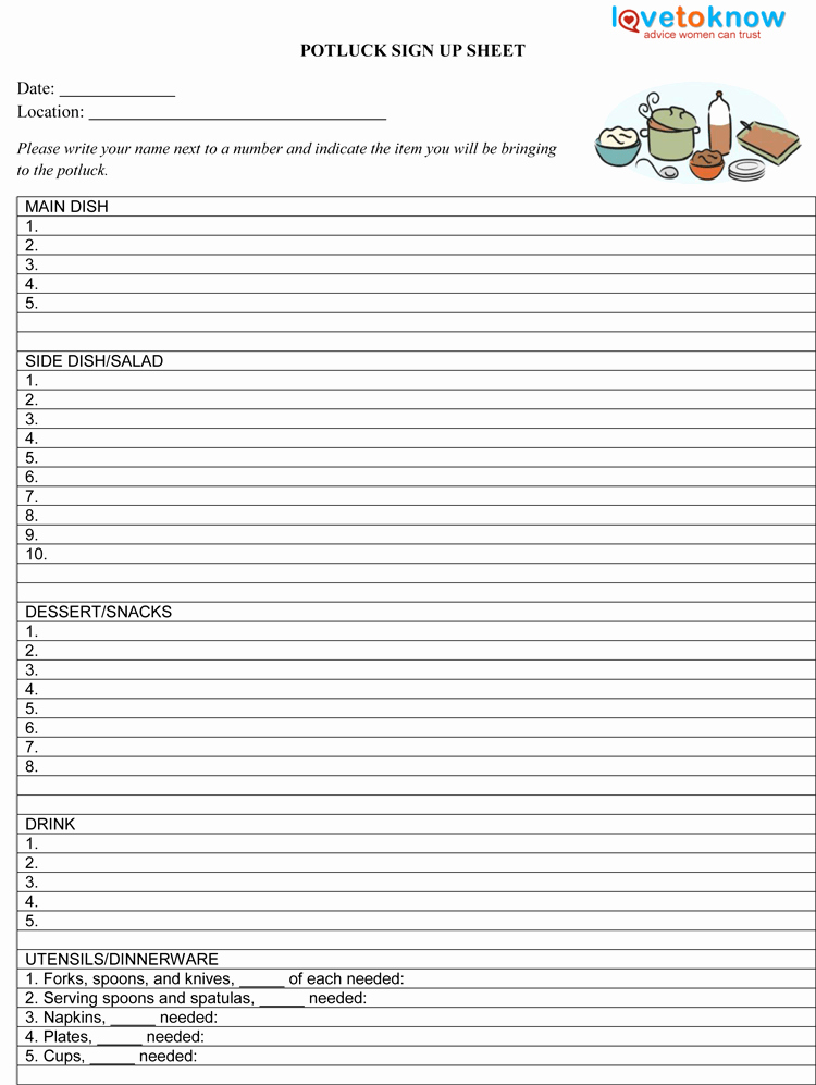 Mexican Potluck Signup Sheet Lovely Potluck Sign Up Sheet Template Pdf 750×997 Spring Party Pinterest