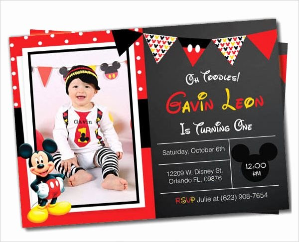 Mickey Mouse Birthday Card Template Beautiful Mickey Mouse Invitation Template 23 Free Psd Vector
