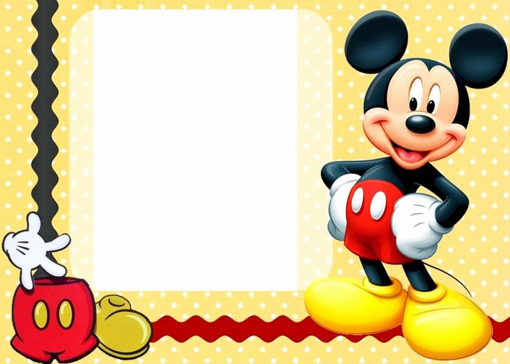 Mickey Mouse Birthday Card Template Best Of Free Printable Mickey Mouse Birthday Cards 9 1 500