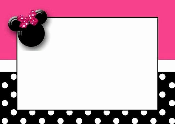 Mickey Mouse Birthday Card Template Fresh Uitnodiging Minnie Muis Pinterest