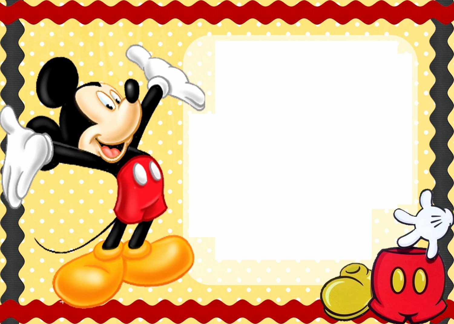 Mickey Mouse Birthday Card Template Inspirational Free Printable Mickey Mouse Birthday Cards
