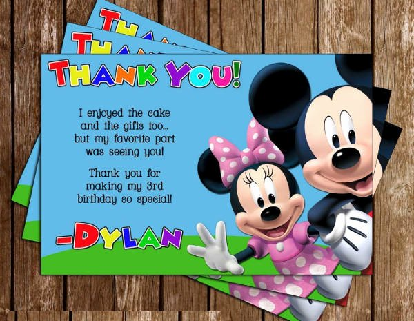 Mickey Mouse Birthday Card Template Lovely Printable Birthday Cards