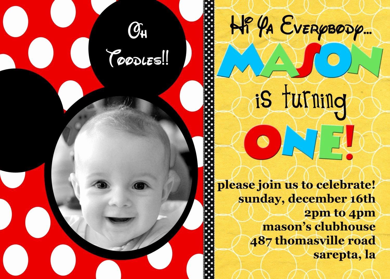 Mickey Mouse Birthday Invitation Template Awesome Free Printable Mickey Mouse Birthday Invitation Cards Birthday Invitations Template