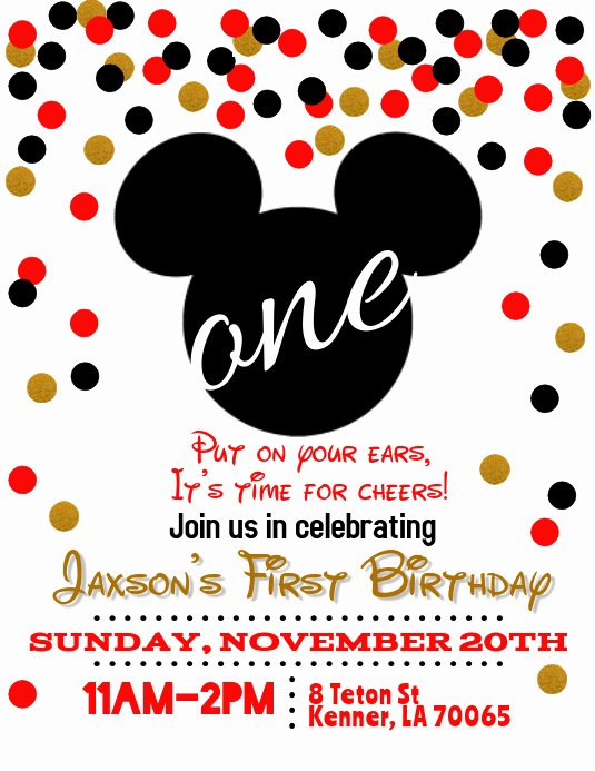 Mickey Mouse Birthday Invitation Template Awesome Mickey Mouse Birthday Invitation Template
