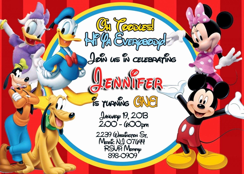 Mickey Mouse Birthday Invitation Template Awesome Mickey Mouse Birthday Invitations Templates