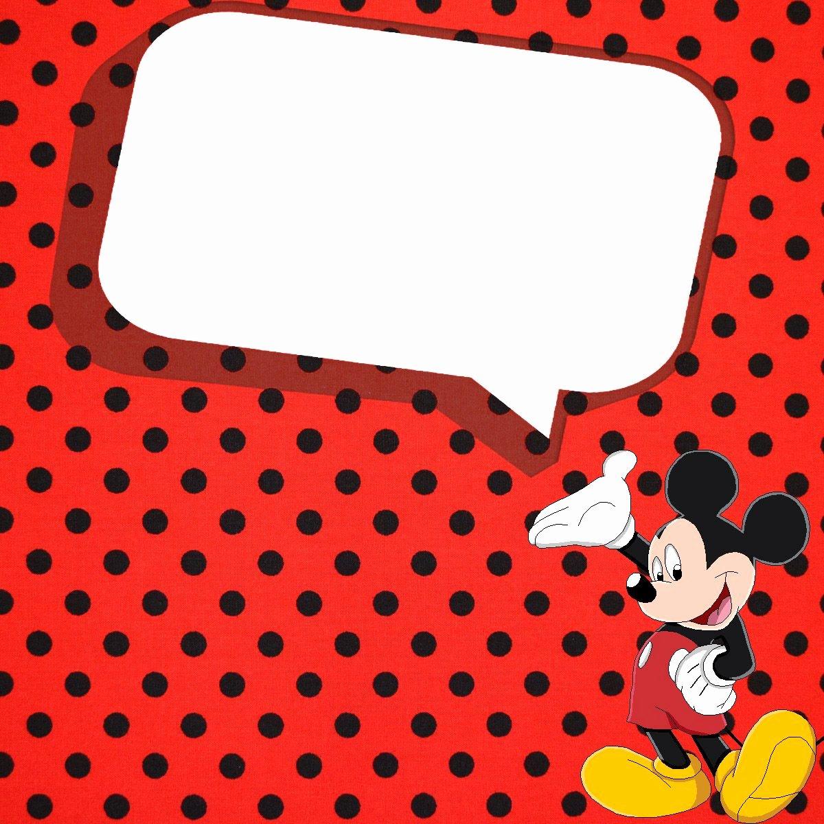 Mickey Mouse Birthday Invitation Template Fresh Free Printable Invitation Templates