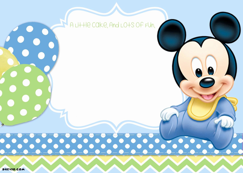 Mickey Mouse Birthday Invitation Template Fresh Mickey Mouse 1st Birthday Tiago S Birthday