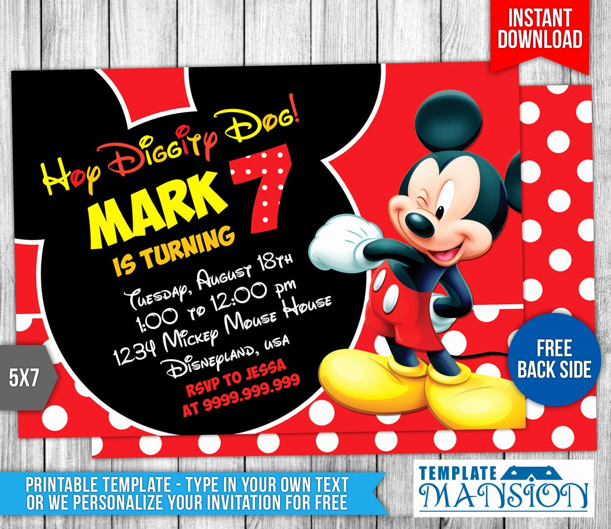 Mickey Mouse Birthday Invitation Template Fresh Mickey Mouse Birthday Invitation 4 by Templatemansion On Deviantart