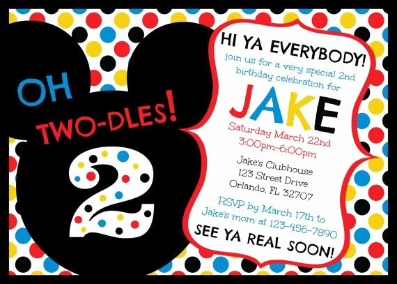 Mickey Mouse Birthday Invitation Template Inspirational Free Printable Mickey Mouse Clubhouse Birthday Invitations