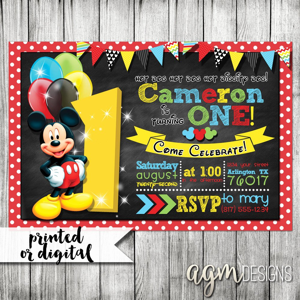 Mickey Mouse Birthday Invitations Elegant Chandeliers & Pendant Lights