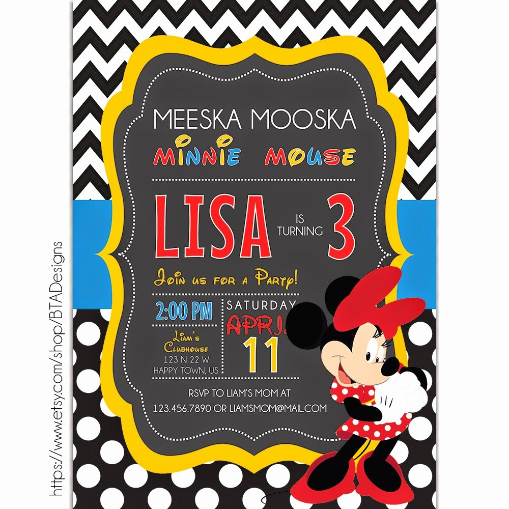 Mickey Mouse Birthday Invitations Elegant Mickey Mouse Inspired Birthday Invitations Free Printable