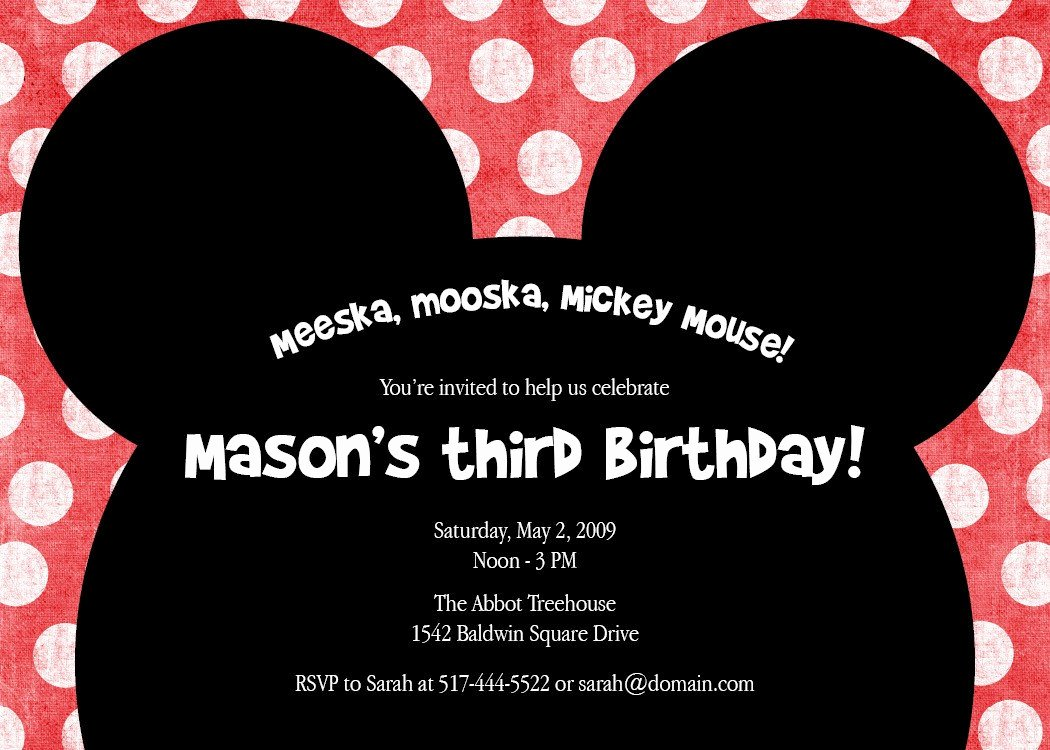 Mickey Mouse Birthday Invitations New Meeska Mooska A Cute Mickey Mouse Birthday Party