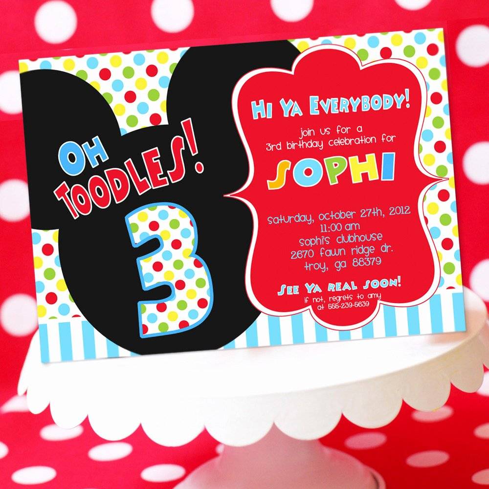 Mickey Mouse Birthday Invitations New Mickey Mouse Birthday Invitation Mickey by Amandaspartiestogo