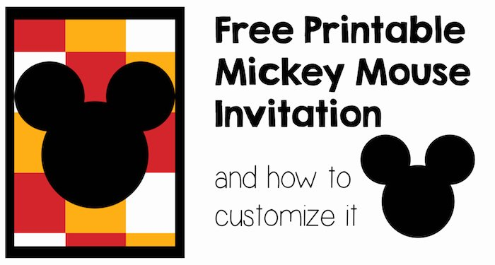 Mickey Mouse Birthday Invitations Template Awesome Five Mickey Mouse Free Printables Paper Trail Design