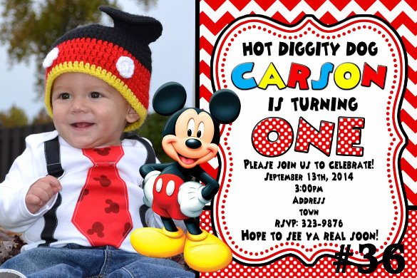 Mickey Mouse Birthday Invitations Template Luxury 31 Mickey Mouse Invitation Templates Free Sample