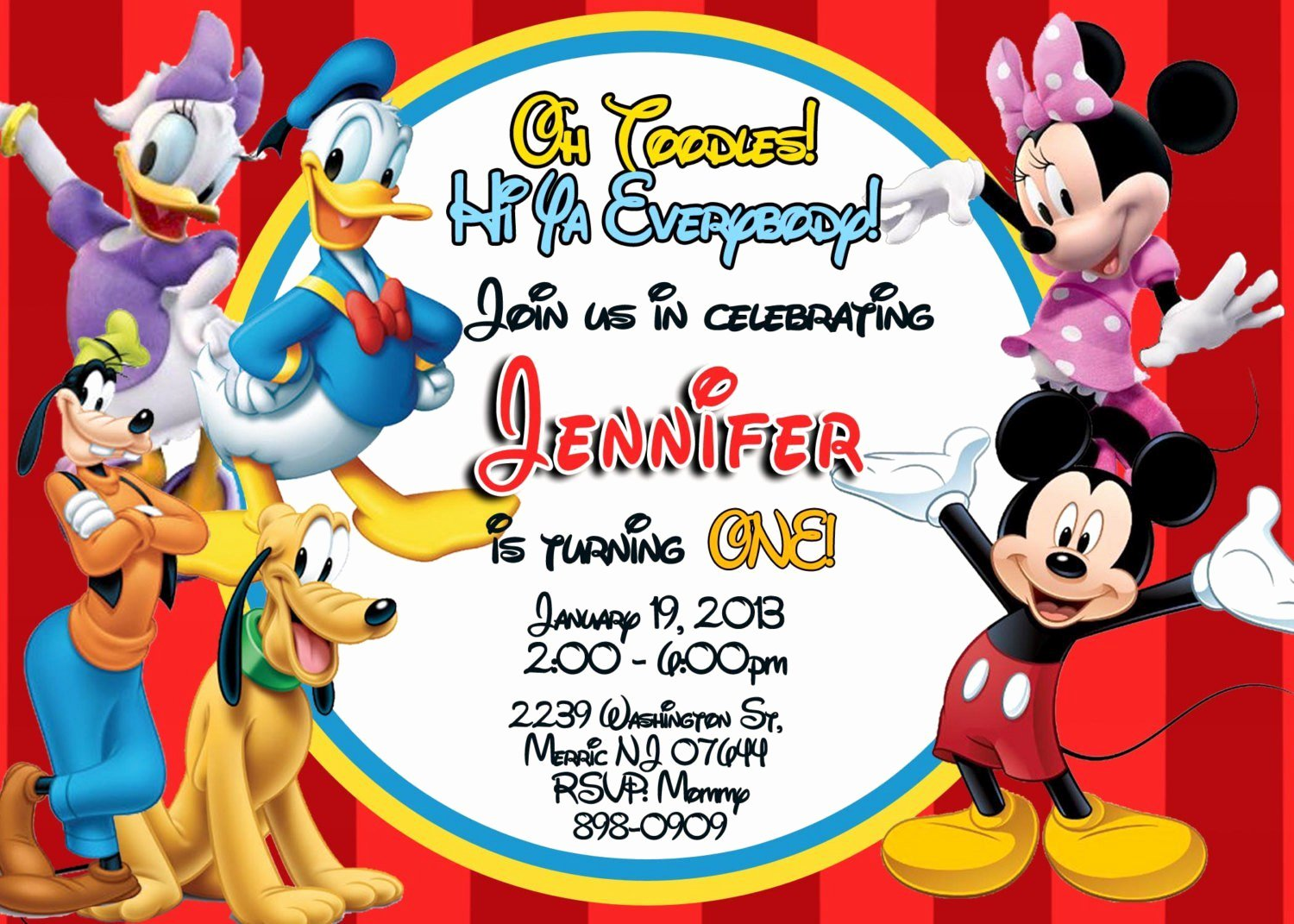 Mickey Mouse Birthday Invitations Template New Exclusive Mickey Mouse Clubhouse Birthday Invitations