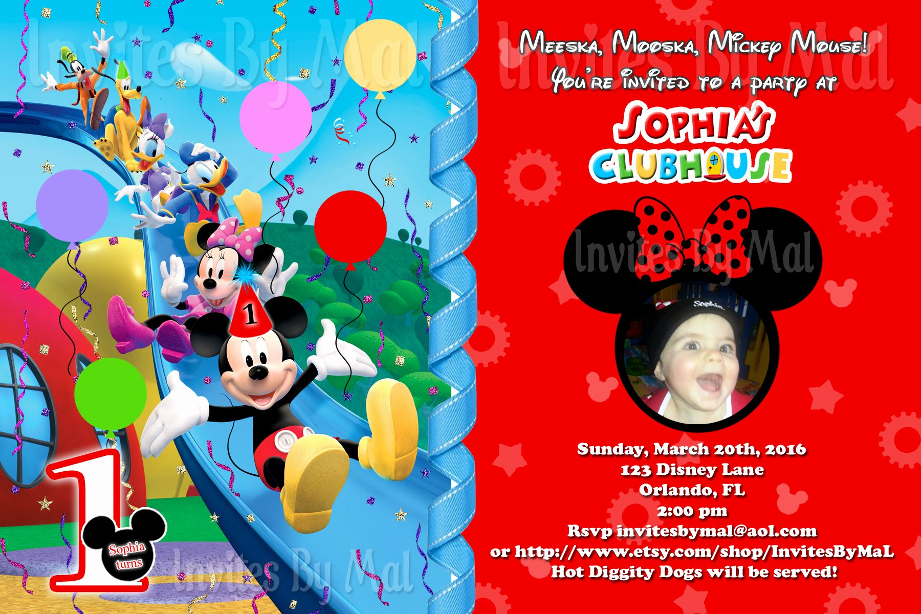 Mickey Mouse Birthday Invitations Unique Mickey Mouse 1st Birthday Invitations Free Invitation Templates Drevio