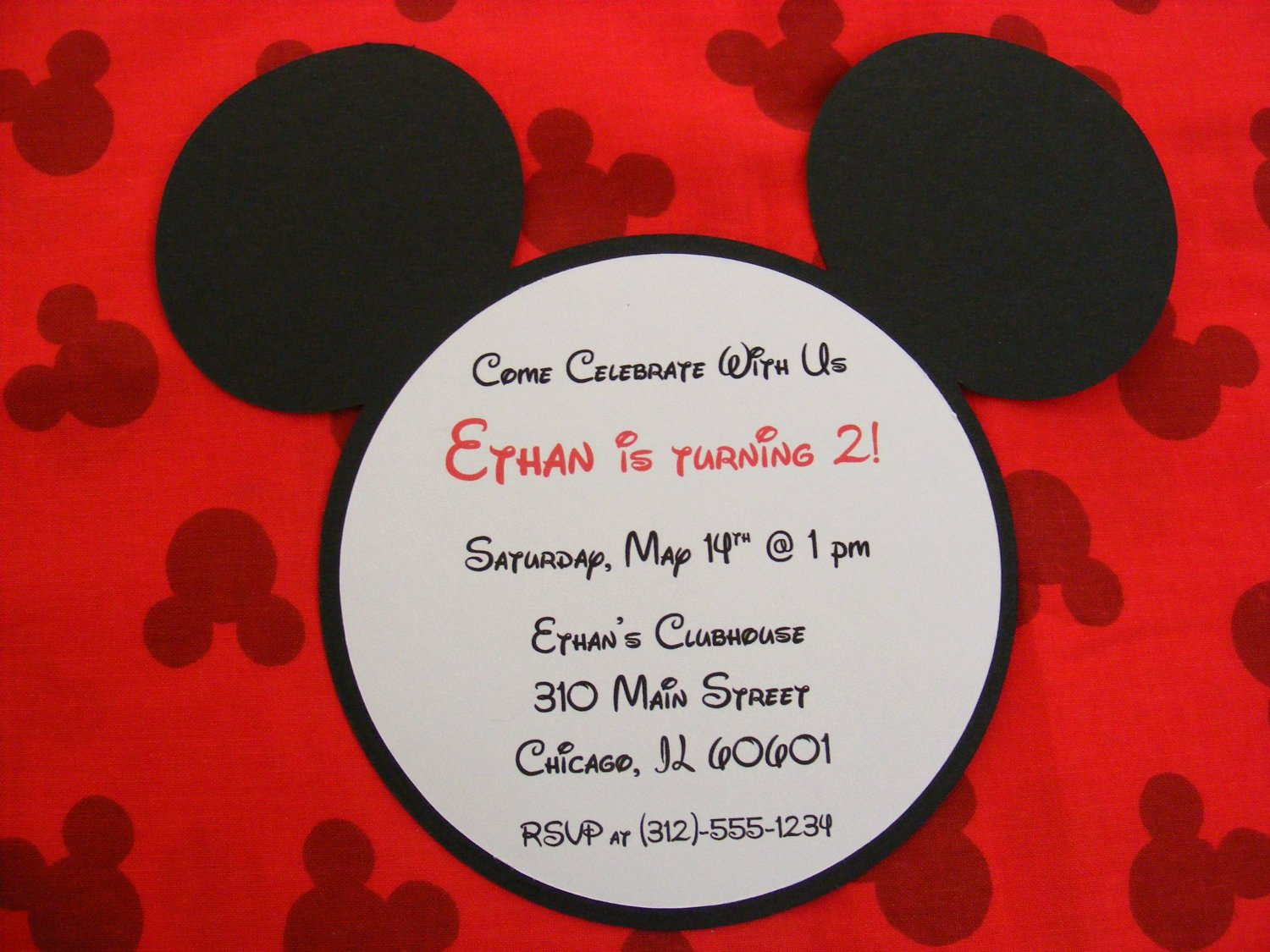Mickey Mouse Birthday Party Invitations Best Of Handmade Mickey Invitations Mickey Mouse Inspired Birthday
