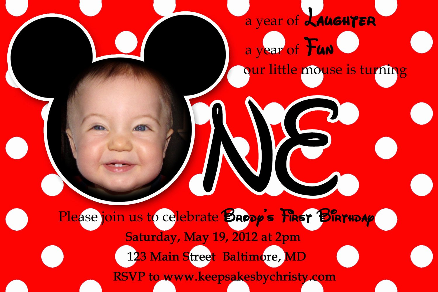Mickey Mouse Birthday Party Invitations Elegant First Birthday Party Invitation Ideas – Bagvania Free Printable Invitation Template