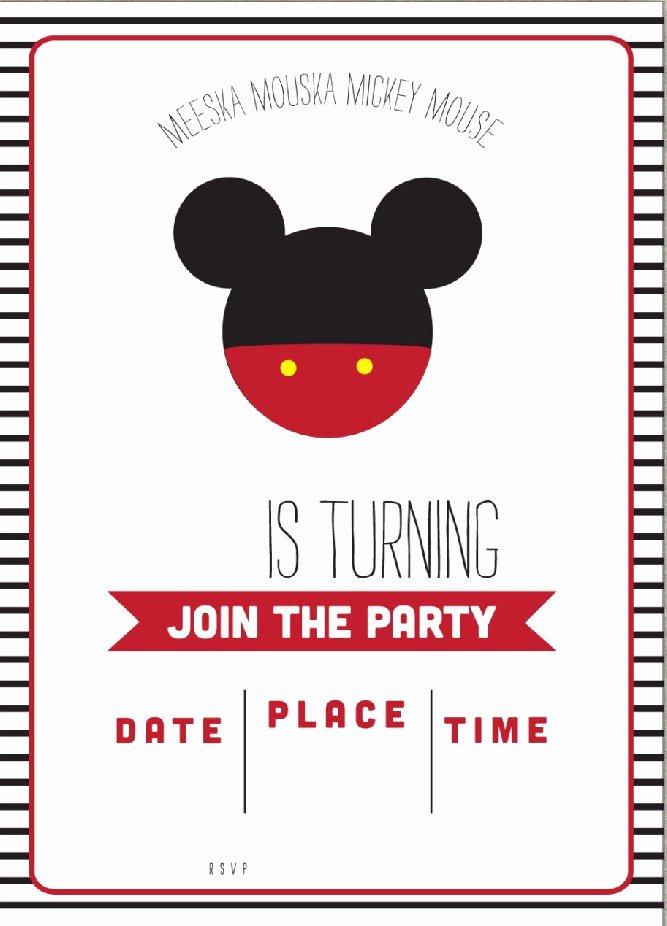 Mickey Mouse Birthday Party Invitations Inspirational Free Mickey Mouse Clubhouse Birthday Invitations – Free Printable Birthday Invitation Templates