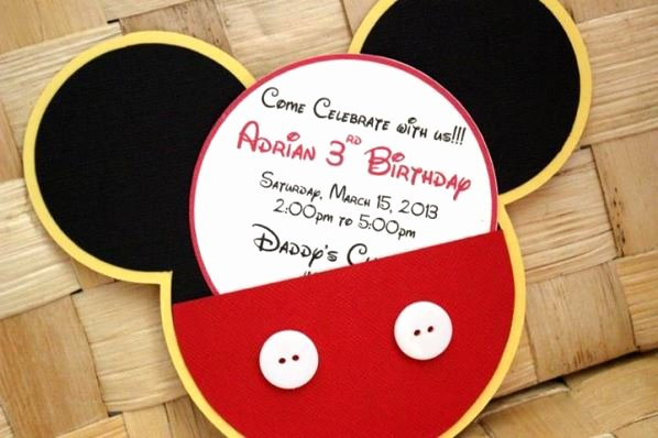 Mickey Mouse Birthday Party Invitations Luxury Mickey Mouse Birthday Party Ideas Pink Lover