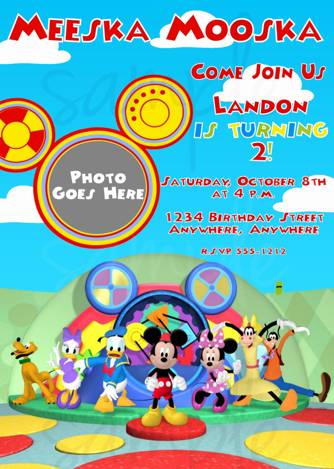 Mickey Mouse Birthday Party Invitations Luxury Mickey Mouse Clubhouse Birthday Invitation by Lovelifeinvites