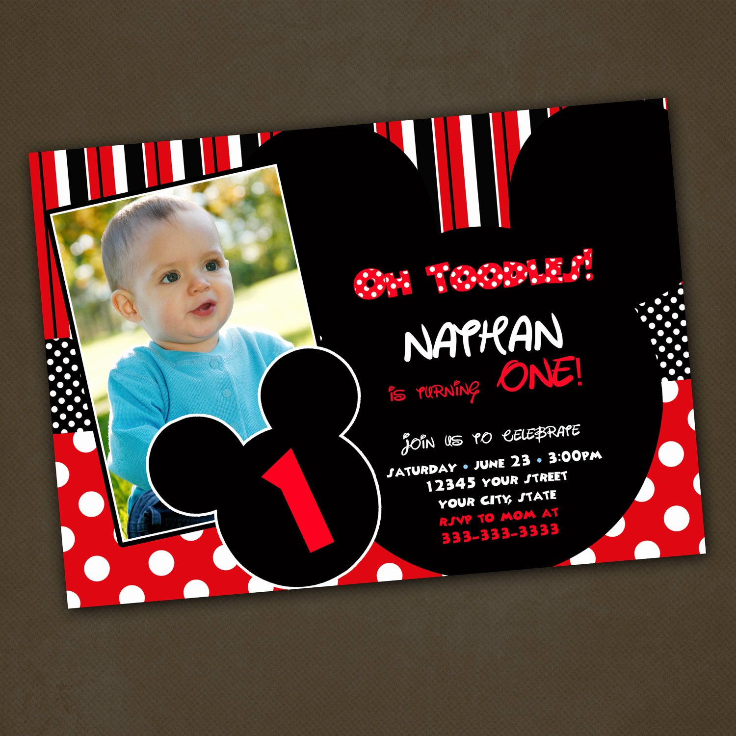 Mickey Mouse Birthday Party Invitations Luxury Unavailable Listing On Etsy