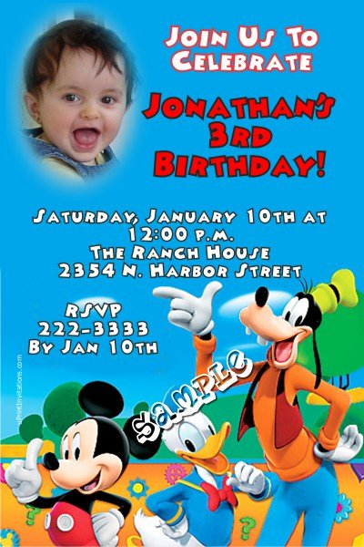 Mickey Mouse Clubhouse Birthday Invites Awesome Mickey Mouse Clubhouse 2 Birthday Invitation