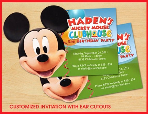 Mickey Mouse Clubhouse Birthday Invites Best Of Mickey Mouse Clubhouse Birthday Invitations Custom by Teddyted55