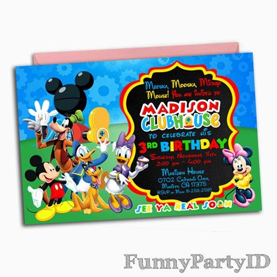 Mickey Mouse Clubhouse Birthday Invites Best Of Mickey Mouse Clubhouse Invitation Mickey Mouse Clubhouse
