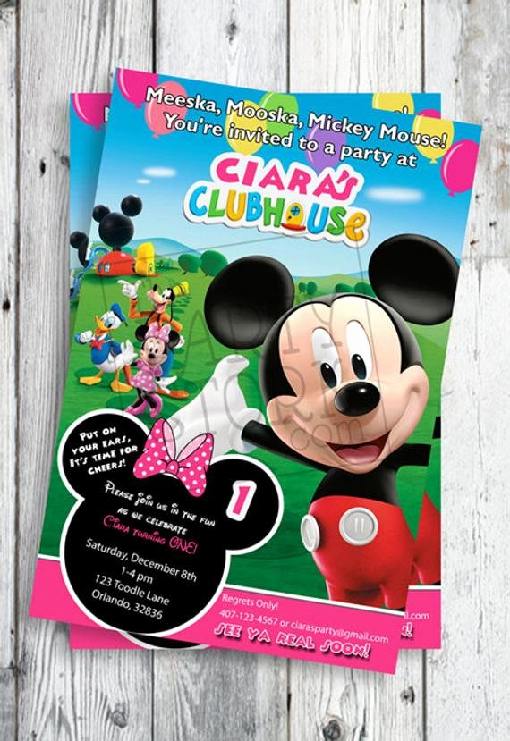 Mickey Mouse Clubhouse Birthday Invites Elegant Minnie Mouse Invites Minnie Mouse First Birthday Invites