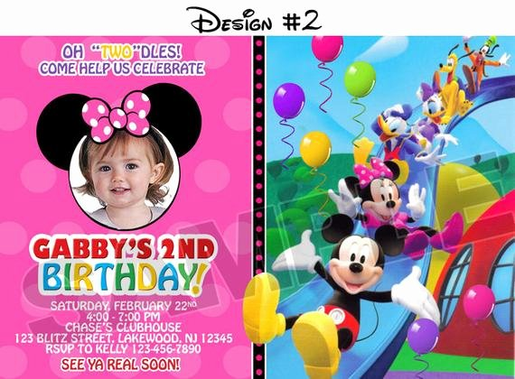 Mickey Mouse Clubhouse Birthday Invites Fresh Mickey Mouse Clubhouse Birthday Party Invitations