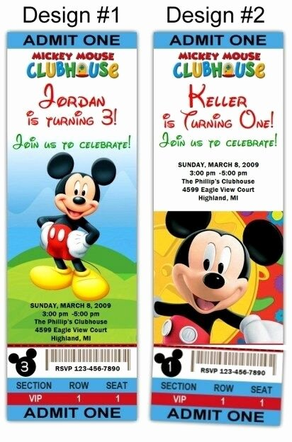 Mickey Mouse Clubhouse Birthday Invites Inspirational Mickey Mouse Clubhouse 10ct Birthday Party Invitations Printed Shipped